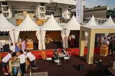 Afternoon by @AMERyachts booth, during the Festival de la Plaisance in 2013, Cannes