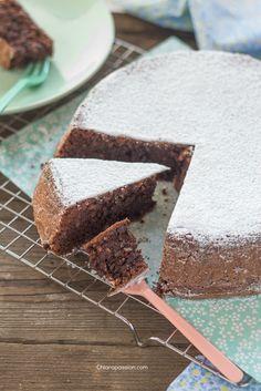Torta Caprese, almonds chocolate cake