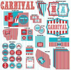 Circus Birthday Party PRINTABLE Vintage Circus Collection by Love The Day on Etsy, $45.00