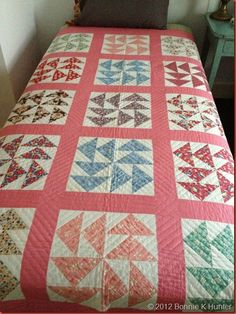 1930s Lost Dutchman Quilt, owned by Mary Koval, Bedford PA July 2012