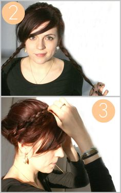 super cute! Easy braided up-do!