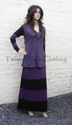 sizes 6 to 30 nightmare skirt custom made by TwistedPixieClothing, £44.00  #alternative #fantasy #gothic #goth #hippy #boho  #black #purple #skirt #stripes  20% off all items for July 2014 only. Type in TWISTEDJULY when ordering :)