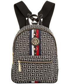 5b12f219292 Tommy Hilfiger Jaden Monogram Jacquard Backpack Handbags   Accessories -  Macy s
