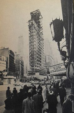 Times Square 1964 Times Tower Being Rebuilt