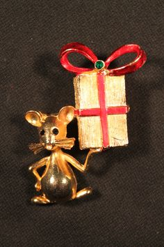 Vintage mouse brooch.  $49.00
