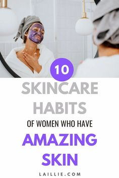10 Skincare Habits Of Women Who Have Amazing Skin. Learn healthy skincare habits for clear skin. With these ten good skincare habits you will achieve flawless skin in no time. Use these beauty skincare habits to see quick results that last a long time. If you implement these skincare habit tips you will start seeing serious improvements in your acne, dark spots, and overall complexion. Womens Wellness, Gel Mask, Under My Skin, Motivation Goals, Healthy Skin Care, Flawless Skin, Dark Spots, Clear Skin, Your Skin