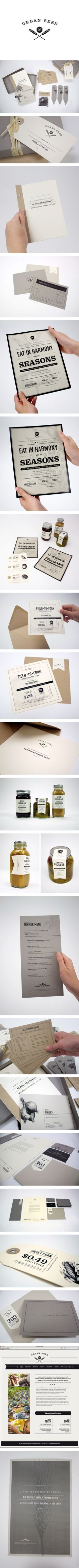#houseofbranding | Urban Seed Identity System and Packaging by Caroline Morris