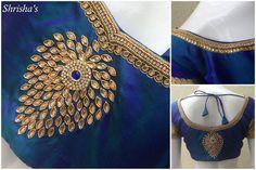 Hand Work Blouse Design, Simple Blouse Designs, Stylish Blouse Design, Aari Work Blouse, Simple Designs, Wedding Saree Blouse Designs, Silk Saree Blouse Designs, Blouse Neck Designs, Maggam Work Designs