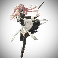 Felicia's official art by Kozaki Yusuke - Fire Emblem Fates