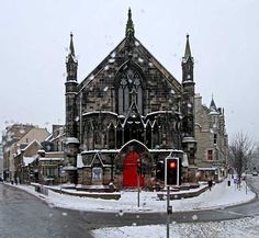 WOW - I can see my old flat in this picture! Bedlam Theatre, Edinburgh University, on Christmas Eve