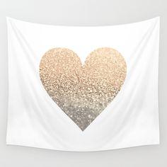 GOLD HEART Wall Tapestry Mermaid Nursery, Little Valentine, Heart Wall, Heart Of Gold, Sea Foam, Wall Tapestry, Logo Design, Coral, Pink