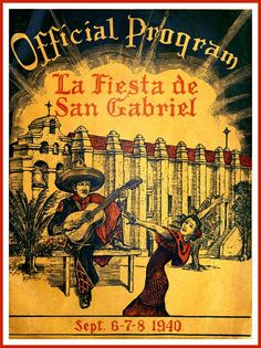 San Gabriel California 1940 Print from old by BloominLuvly on Etsy