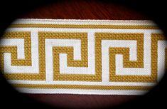Greek Key Design Trim Ribbon  3 x 1 yard  Natural by LesBonRibbon, $15.50