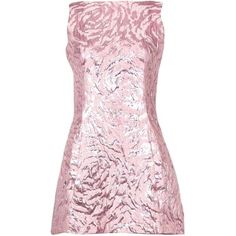 Preowned Balenciaga Sleeveless Metallic Pink Abstract Print Cocktail... (1.865 BRL) ❤ liked on Polyvore featuring dresses, pink, cocktail dresses, pink sleeveless dress, pink mini dress, short evening dresses and special occasion dresses