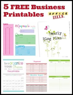 5 Free Small Business Forms http://wp.me/p2Qhap-1Jg #printables #work #office