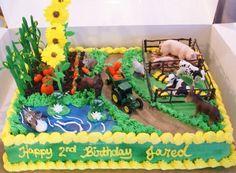 Farm Cake Farm Birthday Cakes, Cowboy Birthday, 50th Birthday, Farm Cake, Cake Logo, Farm Party, Christmas Cupcakes, Cakes For Boys, Cute Cakes
