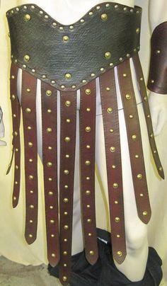 Roman Gladiator Leather Armor Skirted Belt by SharpMountainLeather, $274.99
