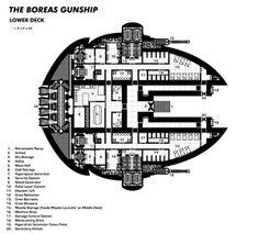Boreas Gunship - Lower Deck