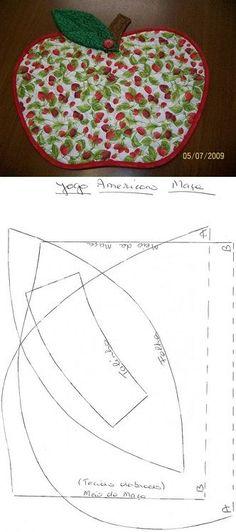 Jogo Americano de maçã.: