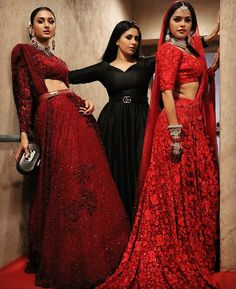 Image may contain: one or more people and people standing Dress Indian Style, Indian Dresses, Indian Wear, Indian Wedding Outfits, Indian Outfits, Bridal Outfits, Stylish Dresses, Fashion Dresses, Bridal Lehenga Collection