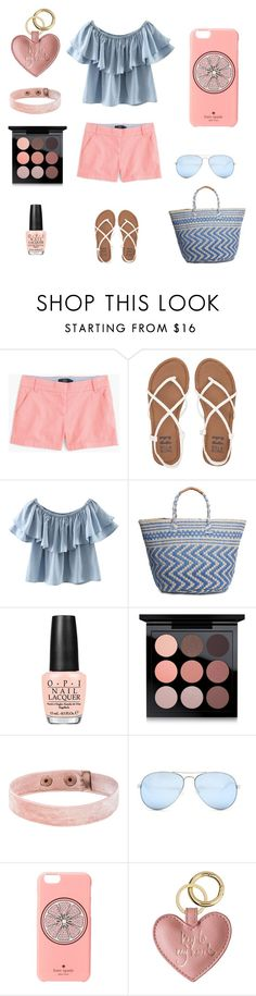 """""""summer outfit"""" by stylosenoi on Polyvore featuring moda, J.Crew, Billabong, Chicnova Fashion, Lucky Brand, OPI, MAC Cosmetics, GUESS, Kate Spade e summerstyle"""