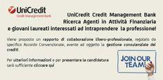 Progetto per il Lavoro: UniCredit Credit Management Bank cerca Agenti in t...