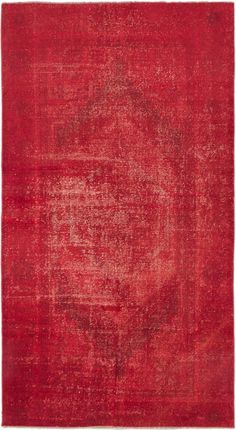 3'7 x 6'7 Vintage Turkish Overdyed Red Rug by kordestanicollection