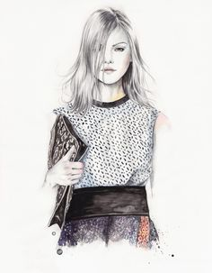 Fashion illustration - chic fashion drawing // Esra Røise