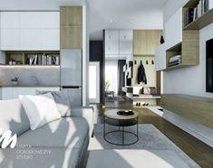 Salon z wysokimi oknami na warszawskich Bielanach - Kuchnia, styl nowoczesny - zdjęcie od Marta Ogrodowczyk Studio - homebook