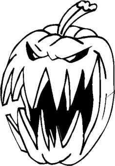 Scary witch face pumpkin carving BOO Pinterest