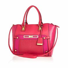 Pink colour block wing tote bag - shopper / tote bags - bags / purses - women
