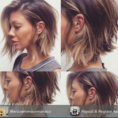 Major hair envy, loving this latest trend, for the summer #lob#messybob#shorthair#love