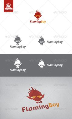 Flaming Boy	 Logo Design Template Vector #logotype Download it here: http://graphicriver.net/item/flaming-boy-logo-template/3373877?s_rank=370?ref=nexion