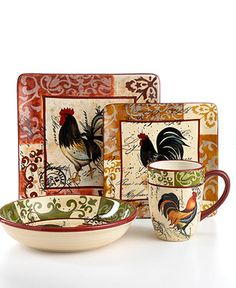 I love these dishes, im goin with the rooster theme in my kitchen kind of inspiration from good ol geegers!
