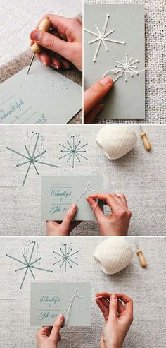 DIY tarjeta o invitación navideña