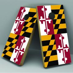 Maryland Flag Cornhole Board Vinyl Decal Wrap