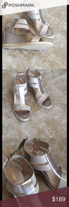 💞ADORABLE wedges sandals 💞made in Italy Preowned in excellent condition, size 36 Fendi Shoes Wedges