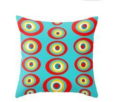 Modern Turquoise Throw Pillow midcentury-decorative-pillows