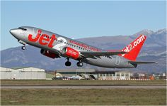 Jet2 Boeing 737-300 G-CELO take off from Verona Airport