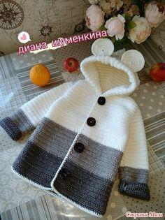 Baby Knitting Patterns Sweaters Crochet Baby Bear Sweater Free Pattern P - Crochet Baby Bear Sweater - . How to Crochet a Bear - Crochet Ideas Haak Baby Bear trui Gratis patroon P - haak Baby Bear trui - . Crochet Baby Sweater Pattern, Crochet Baby Sweaters, Crochet Baby Cardigan, Crochet Coat, Baby Girl Crochet, Crochet Baby Clothes, Baby Knitting Patterns, Crochet Patterns, Booties Crochet