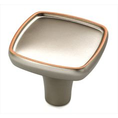 Shop Amerock Porter Weathered-Nickel Copper Square Cabinet Knob at Lowes.com