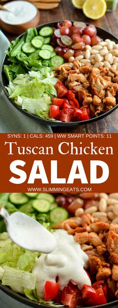 Slimming Eats Tuscan Chicken Salad - gluten free, Slimming World and Weight Watchers friendly | www.slimmingeats.com