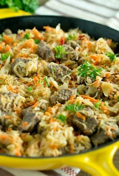 Beef and Cabbage Skillet is one of my favorite recipes that is budget friendly, easy, quick and made in one pan. Delicious flavors, healthy dinner!