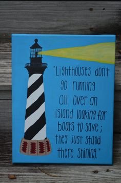 Original Canvas Painting  Lighthouse by JordansCanvas on Etsy, $28.00