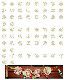 Trendy Dot Applique Font  Size: 4x4, 5x7, (6x10—WILL NOT fit on Janome MB-4 Machine)  Upper & Lower Case, Numbers 0-9
