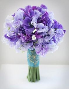 July 8 - 14 2012  Featuring Purple Ombre Wedding    Purple-Sweet-Pea-Bouquet