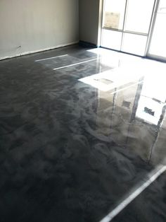 Metallic Epoxy Floor With Polyaspartic Top Coat In Box