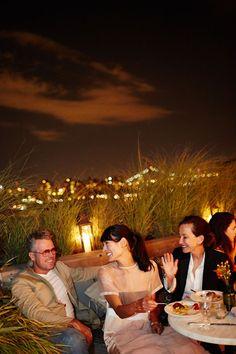 Evening Dinner Party in Brooklyn, New York Boho Garden Party, Rooftop Garden, Brooklyn, Backyard, Couple Photos, Parties, Dinner, Decor, Couple Shots