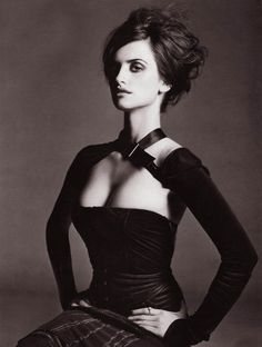 Penelope Cruz who wouldn't want this ball of fire in their coven. Fierce and Sexy in black.