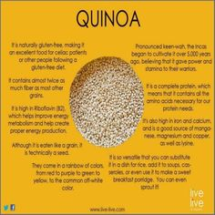 benefits of quinoa   ... /rawfoodsrecipes/r/sprouted-quinoa-salad.htm COOKED RECIPE OF THE DAY